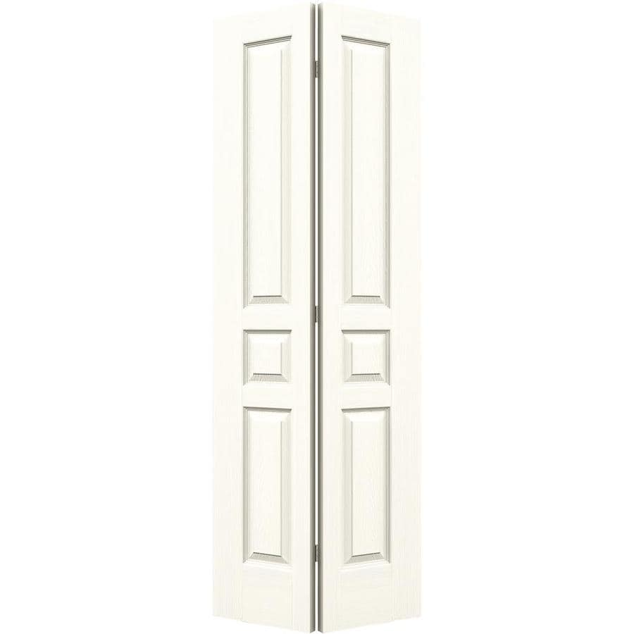 JELD-WEN Moonglow Hollow Core 3-Panel Square Bi-Fold Closet Interior Door (Common: 28-in x 80-in; Actual: 27.5-in x 79-in)