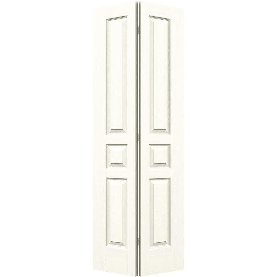 JELD-WEN Moonglow Hollow Core 3-Panel Square Bi-Fold Closet Interior Door (Common: 30-in x 80-in; Actual: 29.5-in x 79-in)