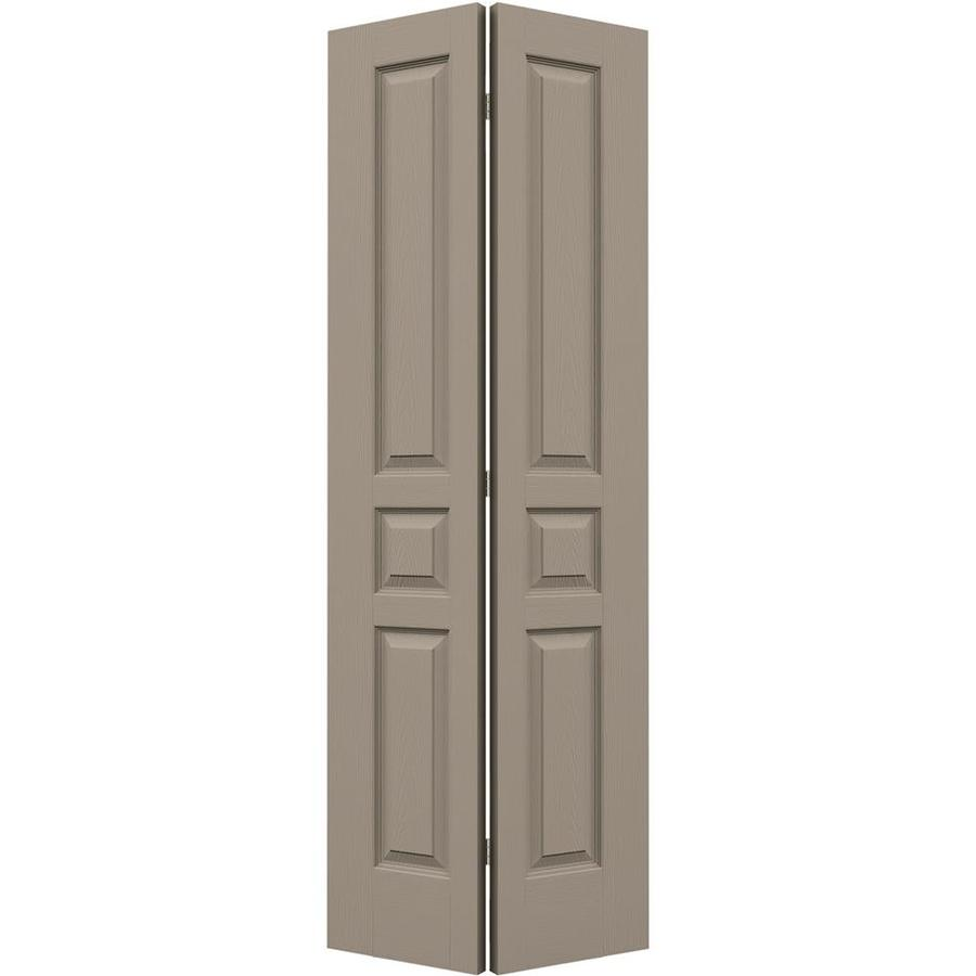 JELD-WEN Avalon Sand Piper Hollow Core Molded Composite Bi-Fold Closet Interior Door with Hardware (Common: 24-in x 80-in; Actual: 23.5-in x 79-in)