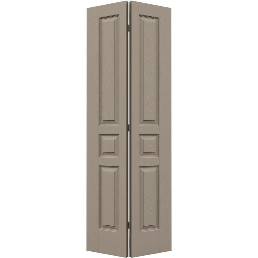 JELD-WEN Sand Piper Hollow Core 3-Panel Square Bi-Fold Closet Interior Door (Common: 28-in x 80-in; Actual: 27.5-in x 79-in)