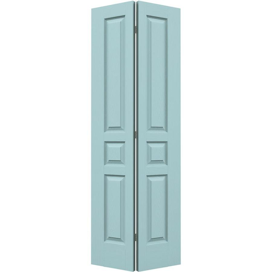 JELD-WEN Sea Mist Hollow Core 3-Panel Square Bi-Fold Closet Interior Door (Common: 24-in x 80-in; Actual: 23.5-in x 79-in)