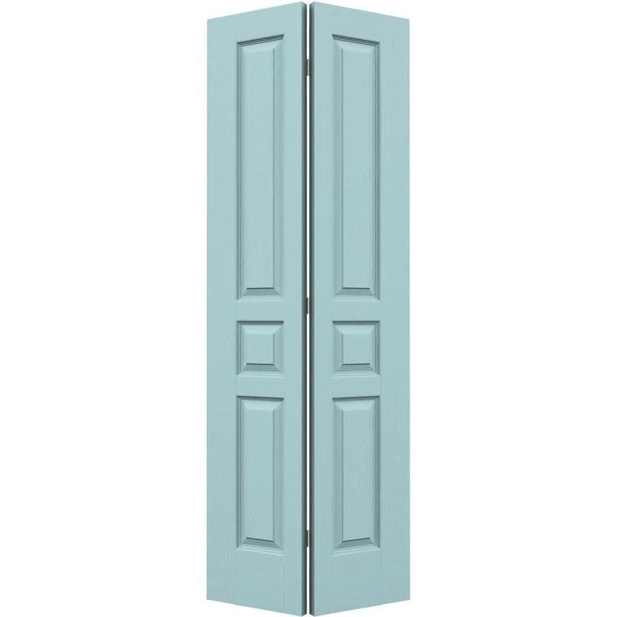 JELD-WEN Avalon Sea Mist Hollow Core Molded Composite Bi-Fold Closet Interior Door with Hardware (Common: 30-in x 80-in; Actual: 29.5-in x 79-in)
