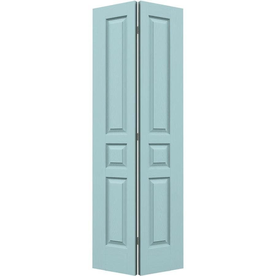 JELD-WEN Sea Mist Hollow Core 3-Panel Square Bi-Fold Closet Interior Door (Common: 36-in x 80-in; Actual: 35.5-in x 79-in)