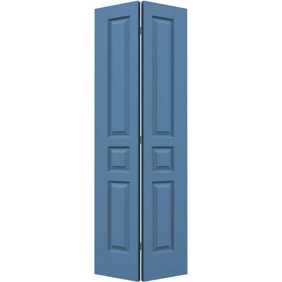 JELD-WEN Avalon Blue Heron 3-panel Square Bi-fold Closet Interior Door (Common: 28-in x 80-in; Actual: 27.5-in x 79-in)