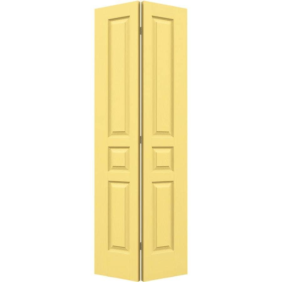 JELD-WEN Avalon Marigold 3-panel Square Bi-fold Closet Interior Door (Common: 24-in x 80-in; Actual: 23.5-in x 79-in)