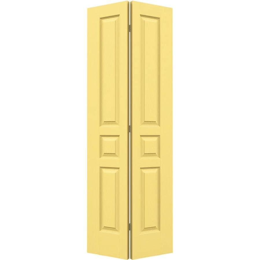 JELD-WEN Marigold Hollow Core 3-Panel Square Bi-Fold Closet Interior Door (Common: 30-in x 80-in; Actual: 29.5-in x 79-in)