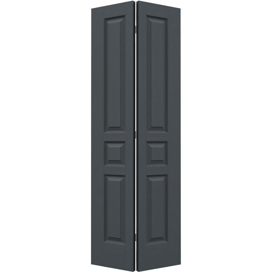 JELD-WEN Avalon Slate Hollow Core Molded Composite Bi-Fold Closet Interior Door with Hardware (Common: 28-in x 80-in; Actual: 27.5000-in x 79-in)