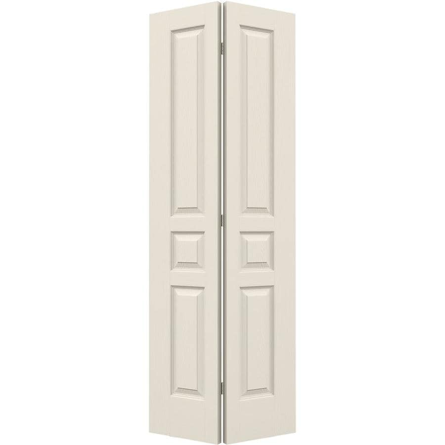 JELD-WEN Avalon Primed Hollow Core Molded Composite Bi-Fold Closet Interior Door with Hardware (Common: 28-in x 80-in; Actual: 27.5000-in x 79-in)