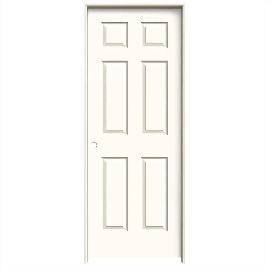 JELD-WEN Colonist White Hollow Core Molded Composite Single Prehung Interior Door (Common: 28-in x 80-in; Actual: 29.562-in x 81.688-in)