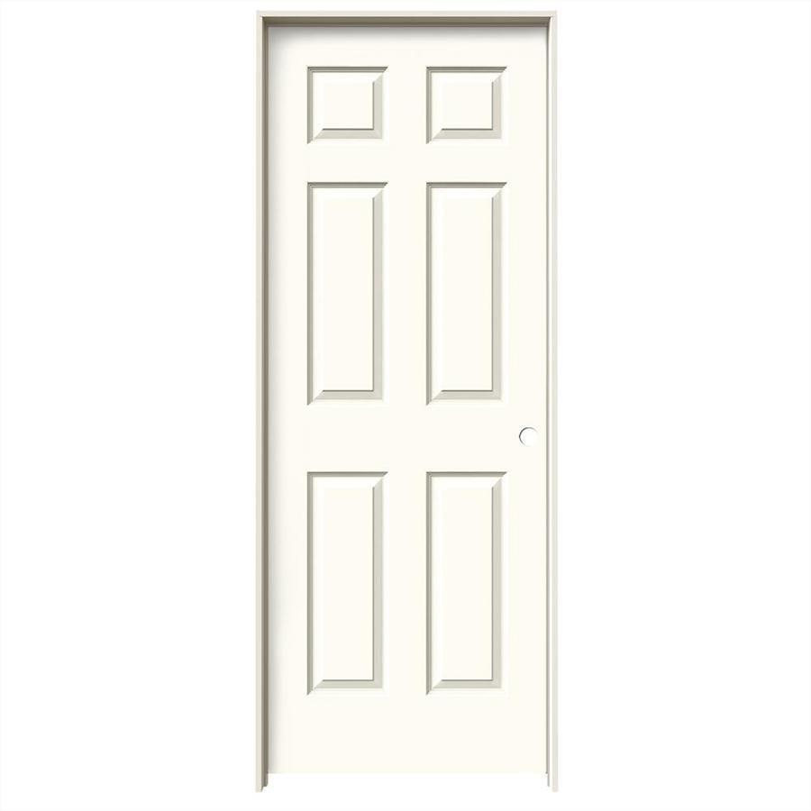 JELD-WEN Colonist White Single Prehung Interior Door (Common: 30-in x 80-in; Actual: 31.562-in x 81.688-in)