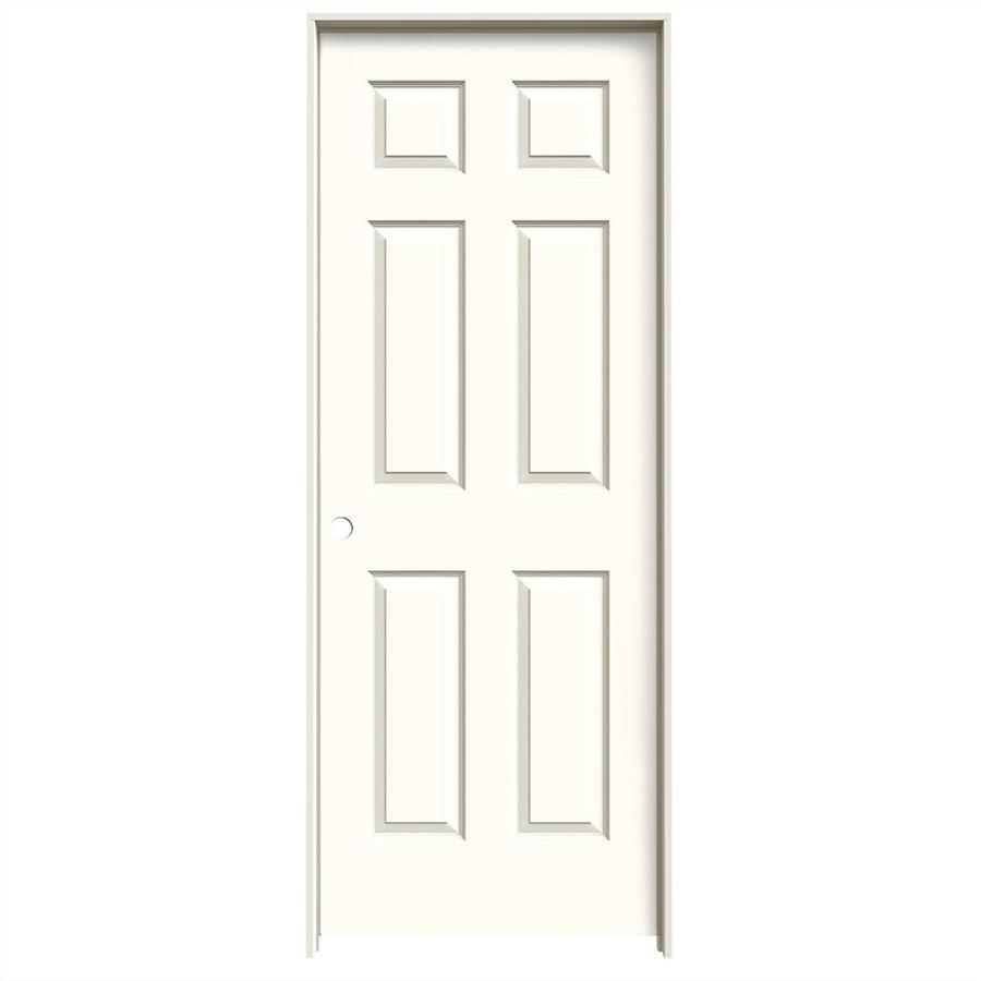 JELD-WEN Colonist Moonglow Hollow Core Molded Composite Single Prehung Interior Door (Common: 24-in x 80-in; Actual: 25.562-in x 81.688-in)