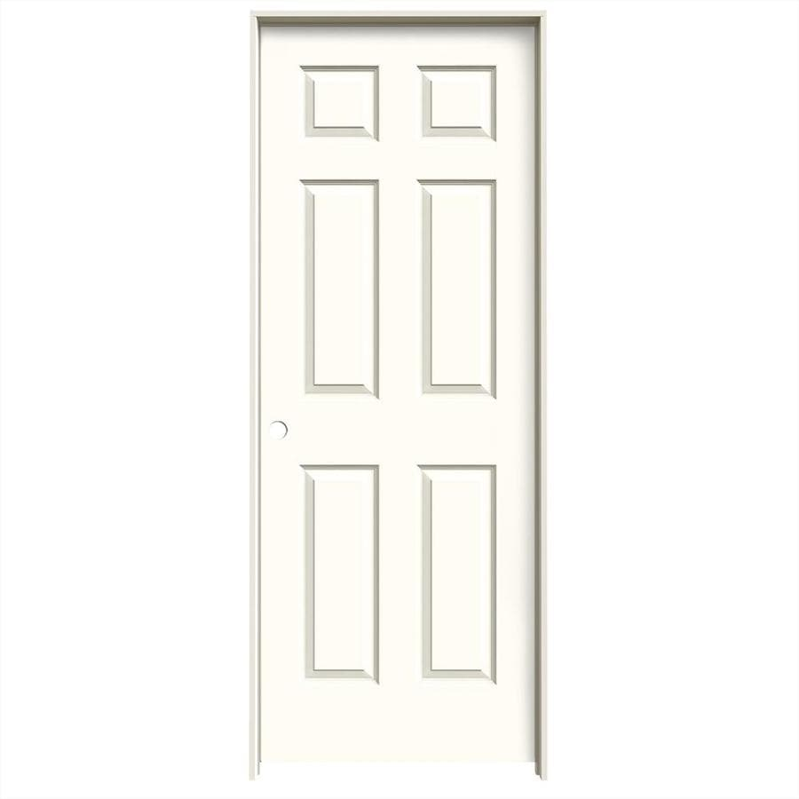 JELD-WEN Moonglow 6-panel Single Prehung Interior Door (Common: 28-in x 80-in; Actual: 29.5620-in x 81.6880-in)