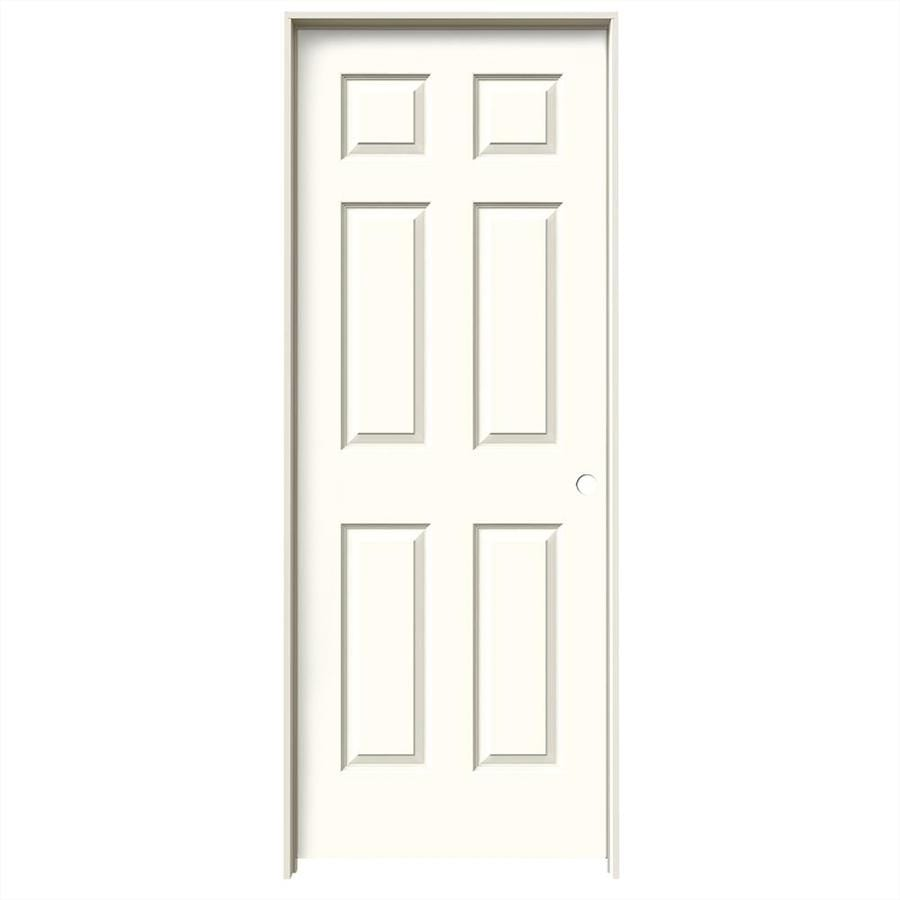 JELD-WEN Moonglow 6-panel Single Prehung Interior Door (Common: 32-in x 80-in; Actual: 33.562-in x 81.688-in)