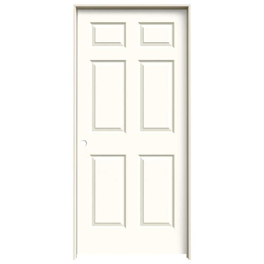 JELD-WEN Moonglow Prehung Hollow Core 6-Panel Interior Door (Common: 36-in x 80-in; Actual: 37.562-in x 81.688-in)
