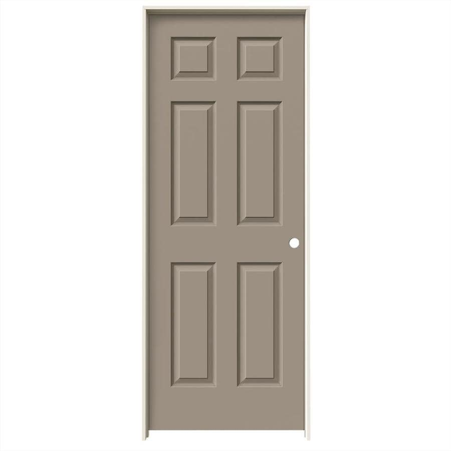 JELD-WEN Sand Piper Prehung Hollow Core 6-Panel Interior Door (Common: 24-in x 80-in; Actual: 25.562-in x 81.688-in)