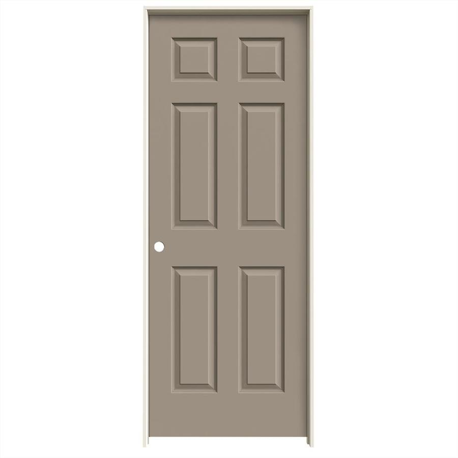 JELD-WEN Sand Piper Prehung Hollow Core 6-Panel Interior Door (Common: 28-in x 80-in; Actual: 29.562-in x 81.688-in)