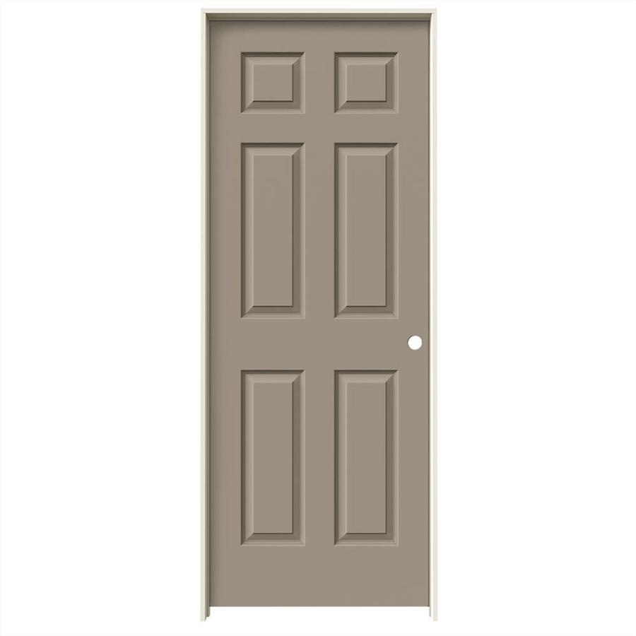 JELD-WEN Sand Piper Prehung Hollow Core 6-Panel Interior Door (Common: 32-in x 80-in; Actual: 33.562-in x 81.688-in)