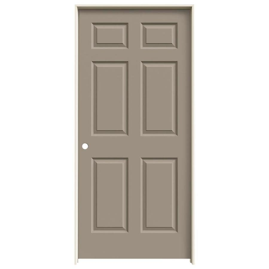 JELD-WEN Sand Piper 6-panel Single Prehung Interior Door (Common: 36-in x 80-in; Actual: 37.562-in x 81.688-in)