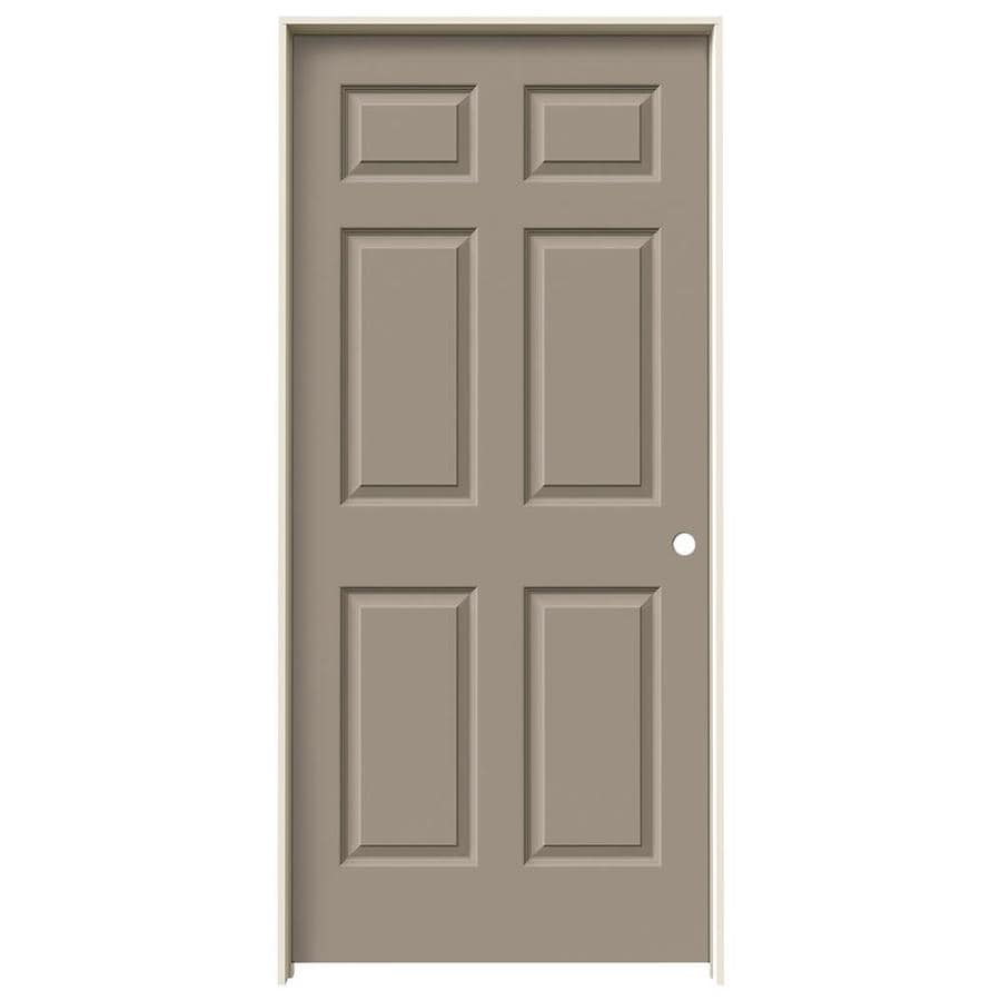JELD-WEN Sand Piper Prehung Hollow Core 6-Panel Interior Door (Common: 36-in x 80-in; Actual: 37.562-in x 81.688-in)