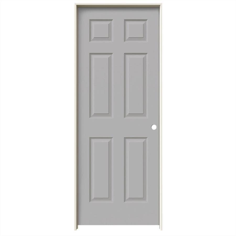 JELD-WEN Driftwood Prehung Hollow Core 6-Panel Interior Door (Common: 24-in x 80-in; Actual: 25.562-in x 81.688-in)