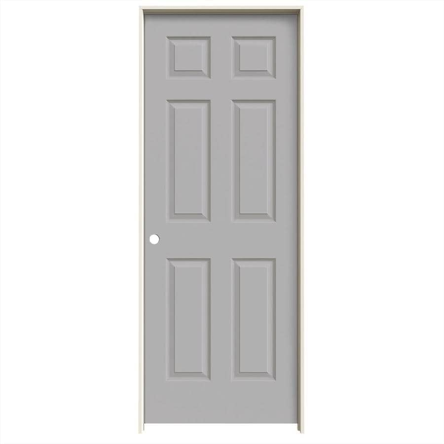 JELD-WEN Driftwood Prehung Hollow Core 6-Panel Interior Door (Common: 30-in x 80-in; Actual: 31.562-in x 81.688-in)