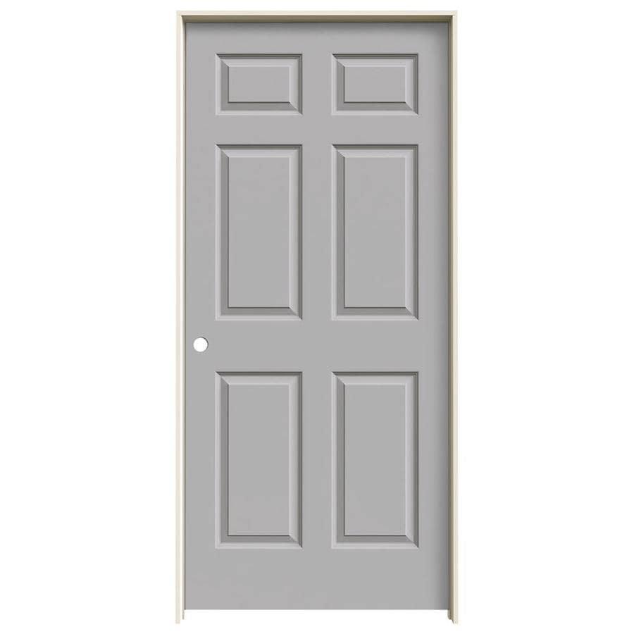 JELD-WEN Colonist Drift Hollow Core Molded Composite Single Prehung Interior Door (Common: 36-in x 80-in; Actual: 37.562-in x 81.688-in)