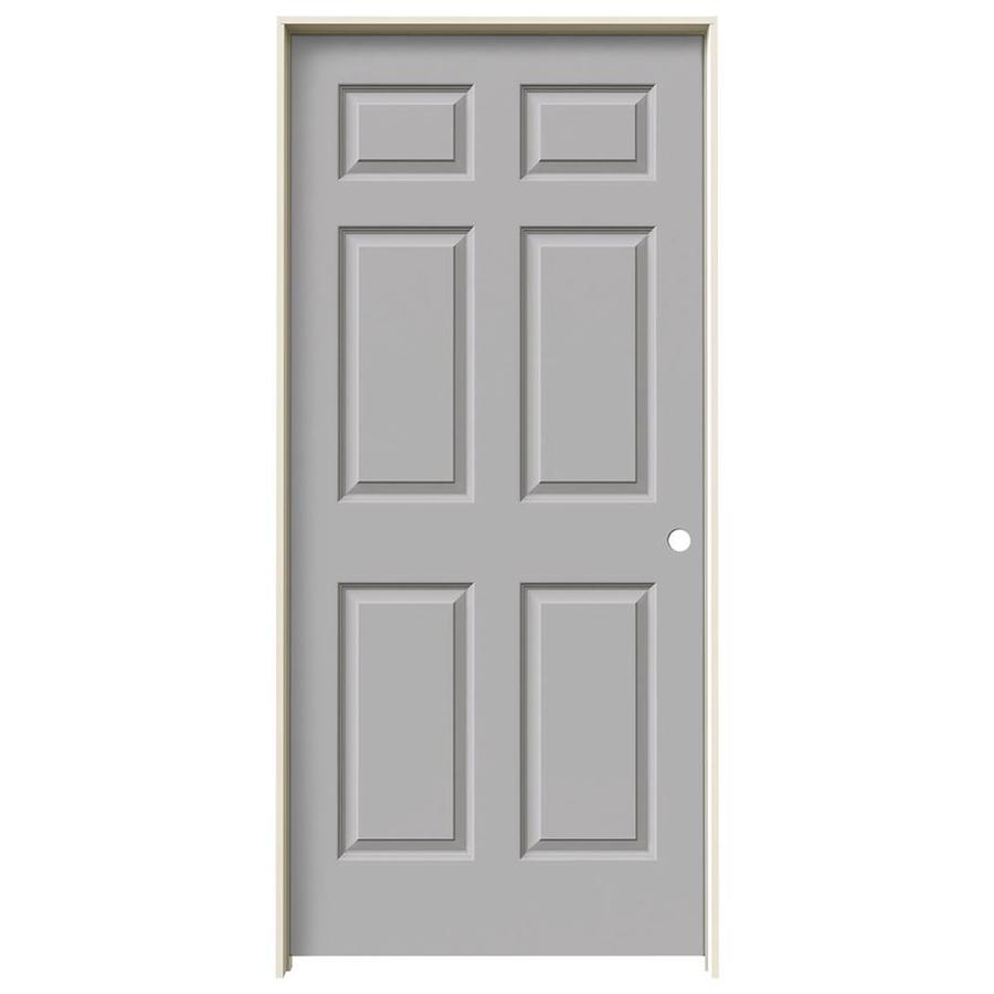 JELD-WEN Driftwood Prehung Hollow Core 6-Panel Interior Door (Common: 36-in x 80-in; Actual: 37.562-in x 81.688-in)