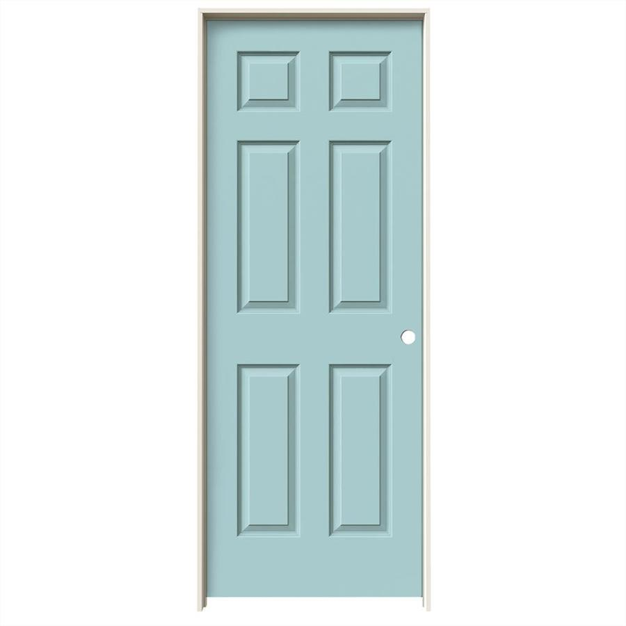 JELD-WEN Colonist Sea Mist Hollow Core Molded Composite Single Prehung Interior Door (Common: 32-in x 80-in; Actual: 33.562-in x 81.688-in)