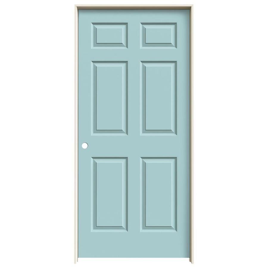 JELD-WEN Colonist Sea Mist Hollow Core Molded Composite Single Prehung Interior Door (Common: 36-in x 80-in; Actual: 37.562-in x 81.688-in)