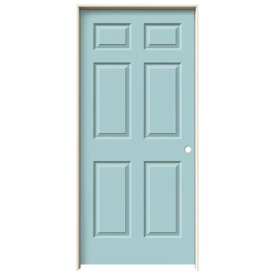 JELD-WEN Colonist Sea Mist Single Prehung Interior Door (Common: 36-in x 80-in; Actual: 37.5620-in x 81.6880-in)
