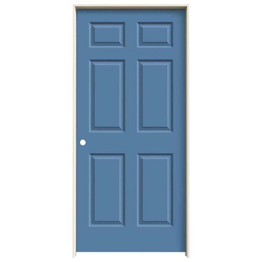 JELD-WEN Colonist Blue Heron Single Prehung Interior Door (Common: 36-in x 80-in; Actual: 37.562-in x 81.688-in)