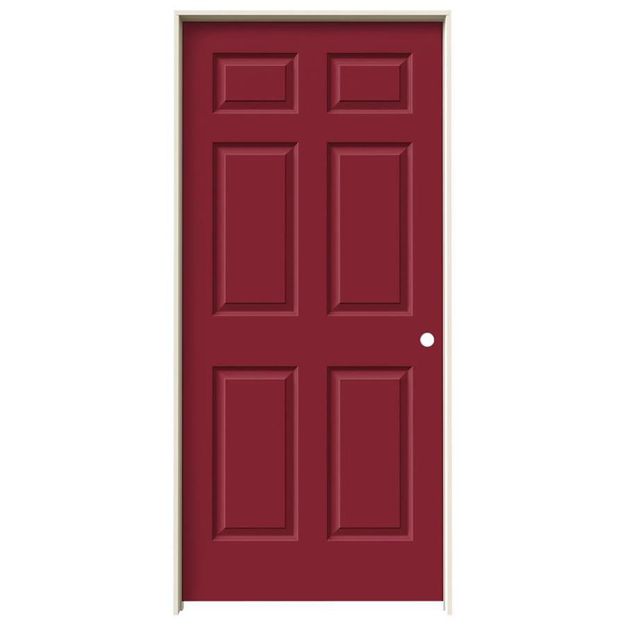 JELD-WEN Colonist Barn Red Hollow Core Molded Composite Single Prehung Interior Door (Common: 36-in x 80-in; Actual: 37.562-in x 81.688-in)