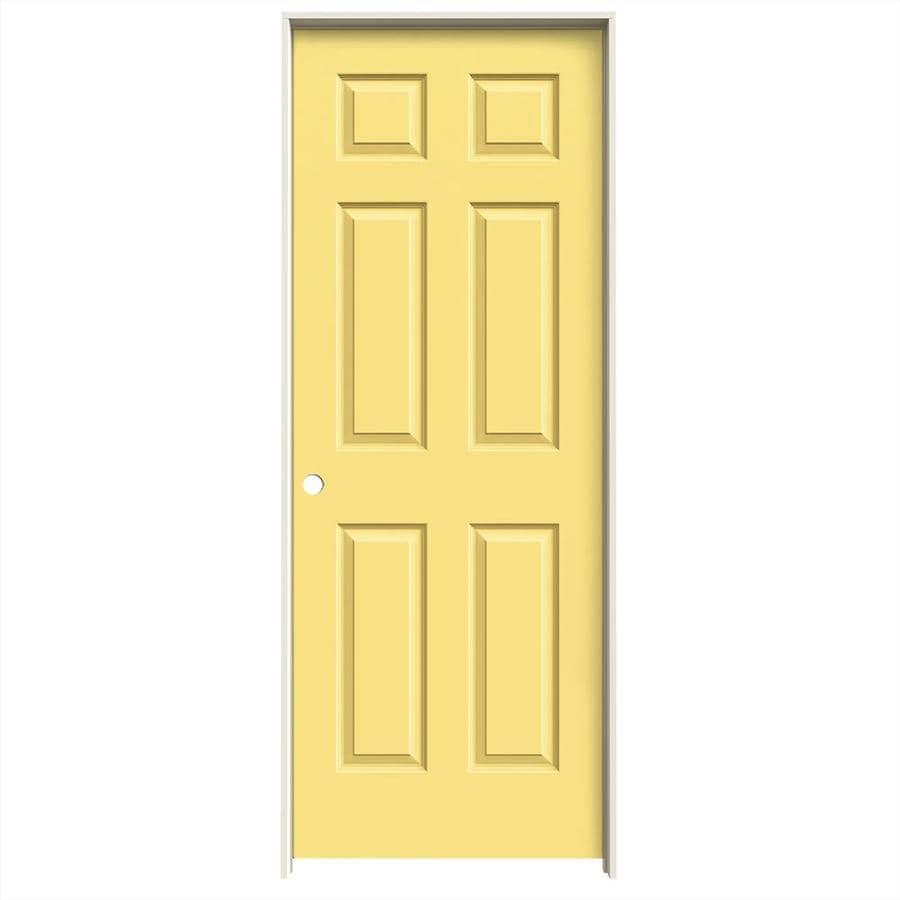 JELD-WEN Colonist Marigold Single Prehung Interior Door (Common: 32-in x 80-in; Actual: 33.562-in x 81.688-in)