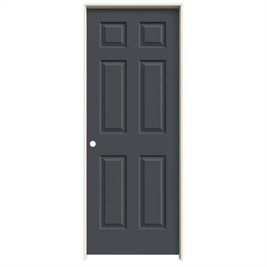 JELD-WEN Colonist Slate Single Prehung Interior Door (Common: 28-in x 80-in; Actual: 29.562-in x 81.688-in)