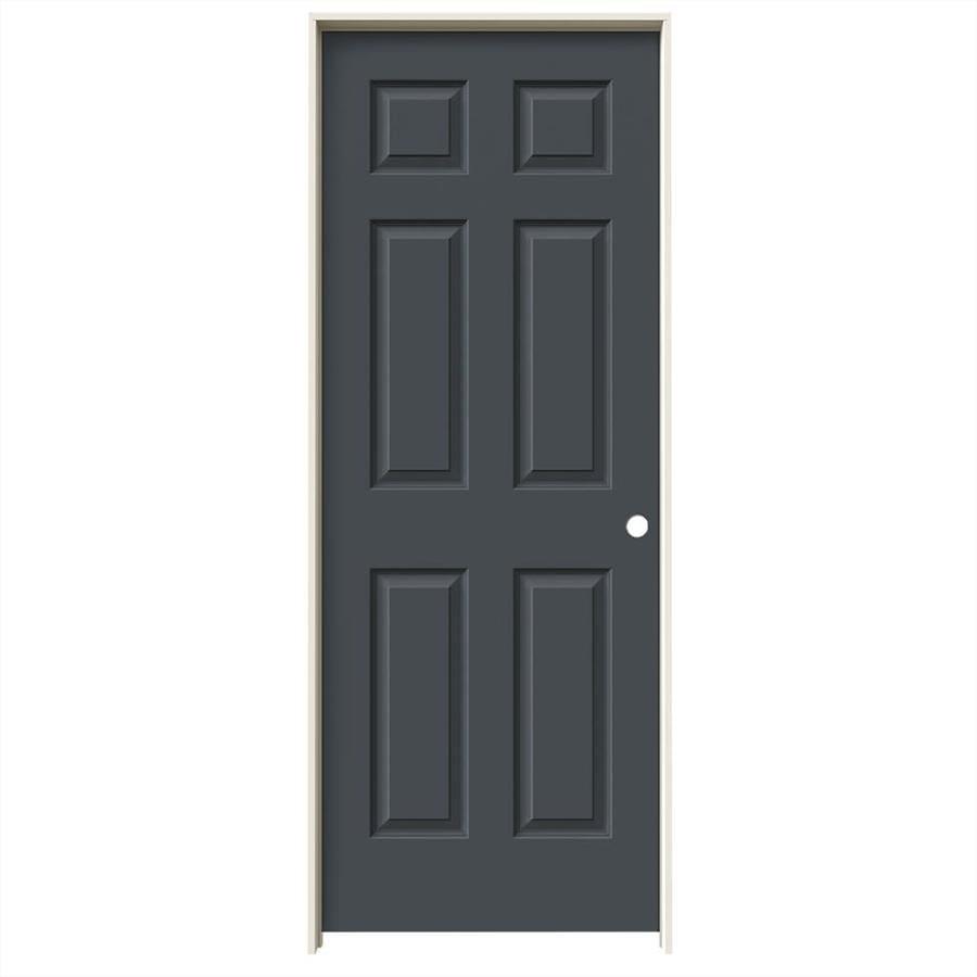 JELD-WEN Slate Prehung Hollow Core 6-Panel Interior Door (Common: 28-in x 80-in; Actual: 29.562-in x 81.688-in)