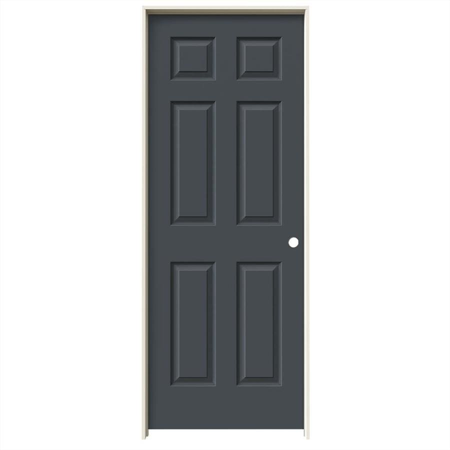 JELD-WEN Slate Prehung Hollow Core 6-Panel Interior Door (Common: 32-in x 80-in; Actual: 33.562-in x 81.688-in)