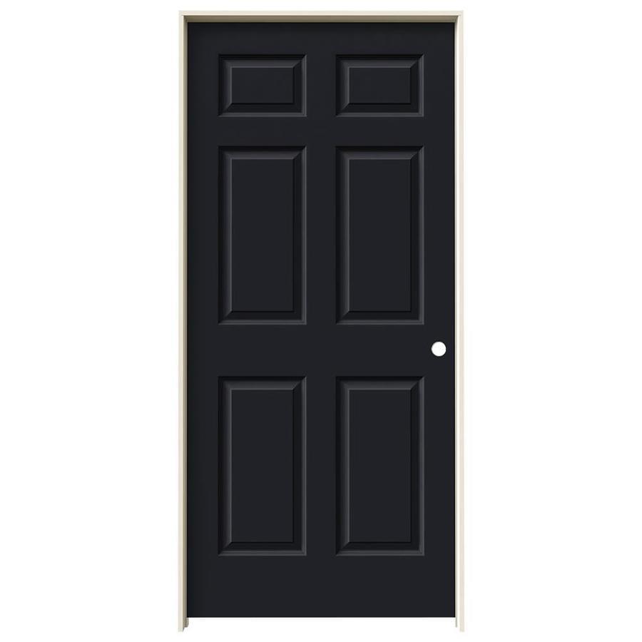 JELD-WEN Midnight Prehung Hollow Core 6-Panel Interior Door (Common: 36-in x 80-in; Actual: 37.562-in x 81.688-in)