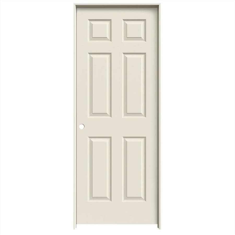 JELD-WEN Primed Hollow Core Molded Composite Single Prehung Interior Door (Common: 30-in x 80-in; Actual: 31.562-in x 81.688-in)