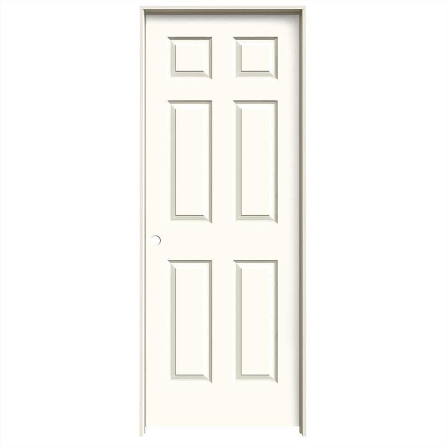 JELD-WEN White Prehung Solid Core 6-Panel Interior Door (Common: 32-in x 80-in; Actual: 33.562-in x 81.688-in)