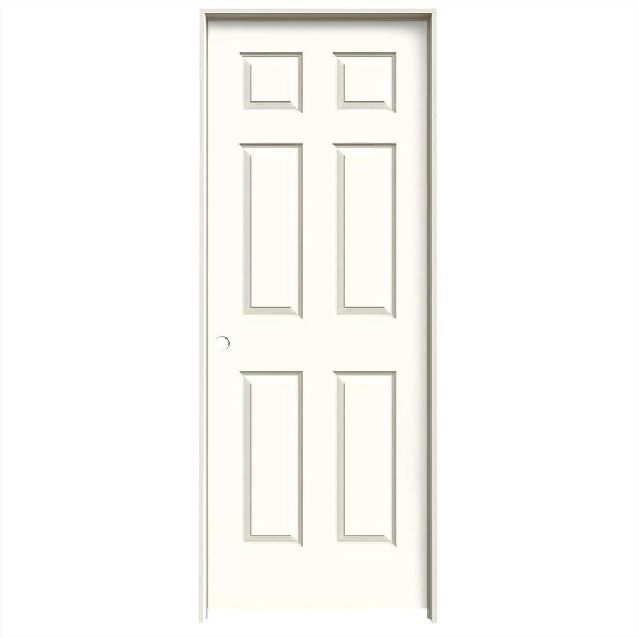 JELD-WEN Moonglow Prehung Solid Core 6-Panel Interior Door (Common: 24-in x 80-in; Actual: 25.562-in x 81.688-in)