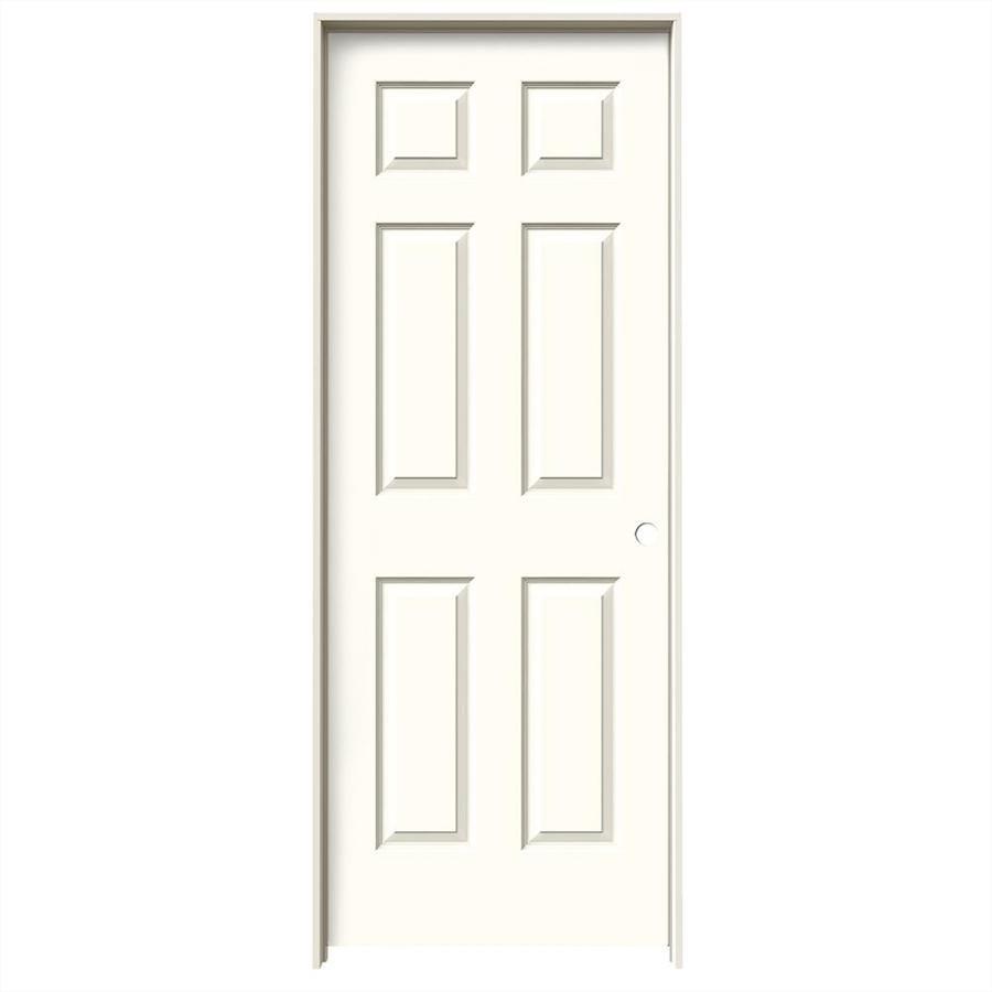 JELD-WEN Colonist Moonglow Solid Core Molded Composite Single Prehung Interior Door (Common: 24-in x 80-in; Actual: 25.562-in x 81.688-in)