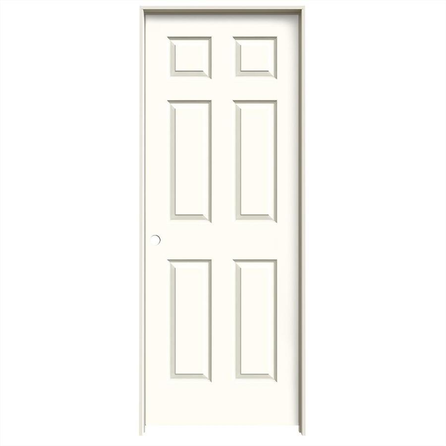 JELD-WEN Moonglow Prehung Solid Core 6-Panel Interior Door (Common: 32-in x 80-in; Actual: 33.562-in x 81.688-in)