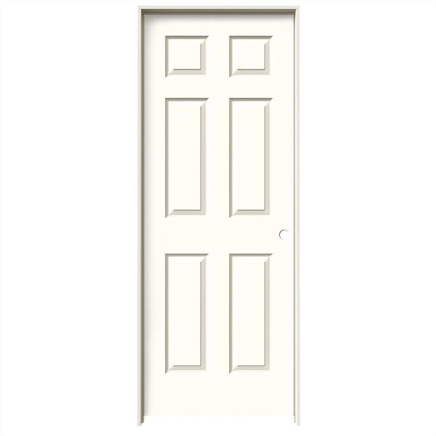 JELD-WEN Moonglow 6-panel Single Prehung Interior Door (Common: 32-in x 80-in; Actual: 33.562-in x 81.688-in)