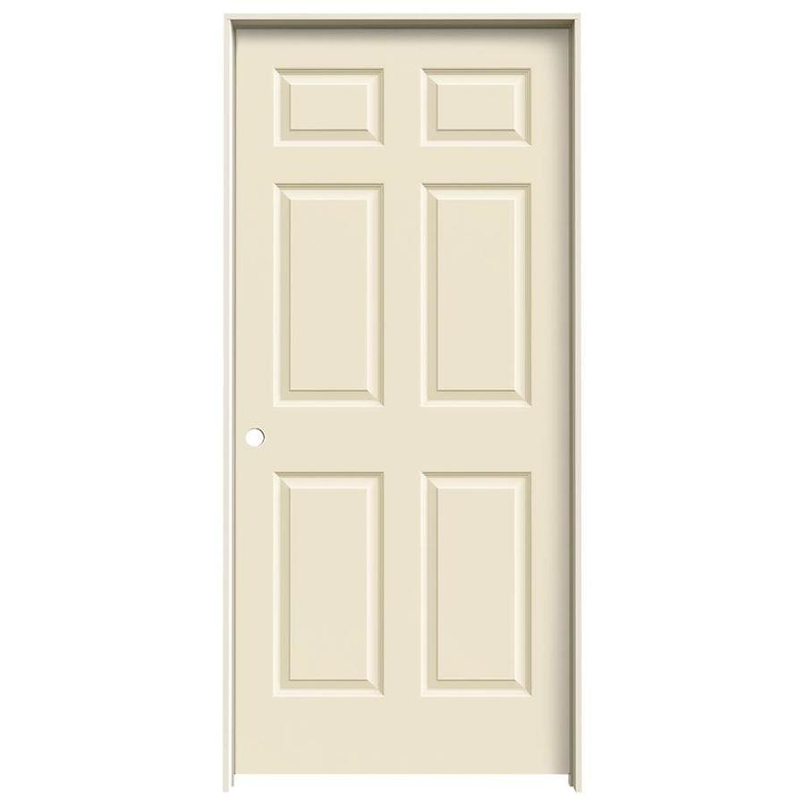 JELD-WEN Colonist Cream-N-Sugar Solid Core Molded Composite Single Prehung Interior Door (Common: 36-in x 80-in; Actual: 37.5620-in x 81.6880-in)
