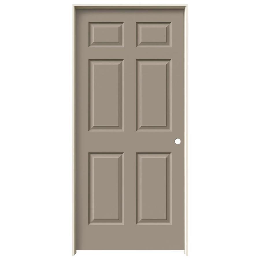 JELD-WEN Sand Piper Prehung Solid Core 6-Panel Interior Door (Common: 36-in x 80-in; Actual: 37.562-in x 81.688-in)