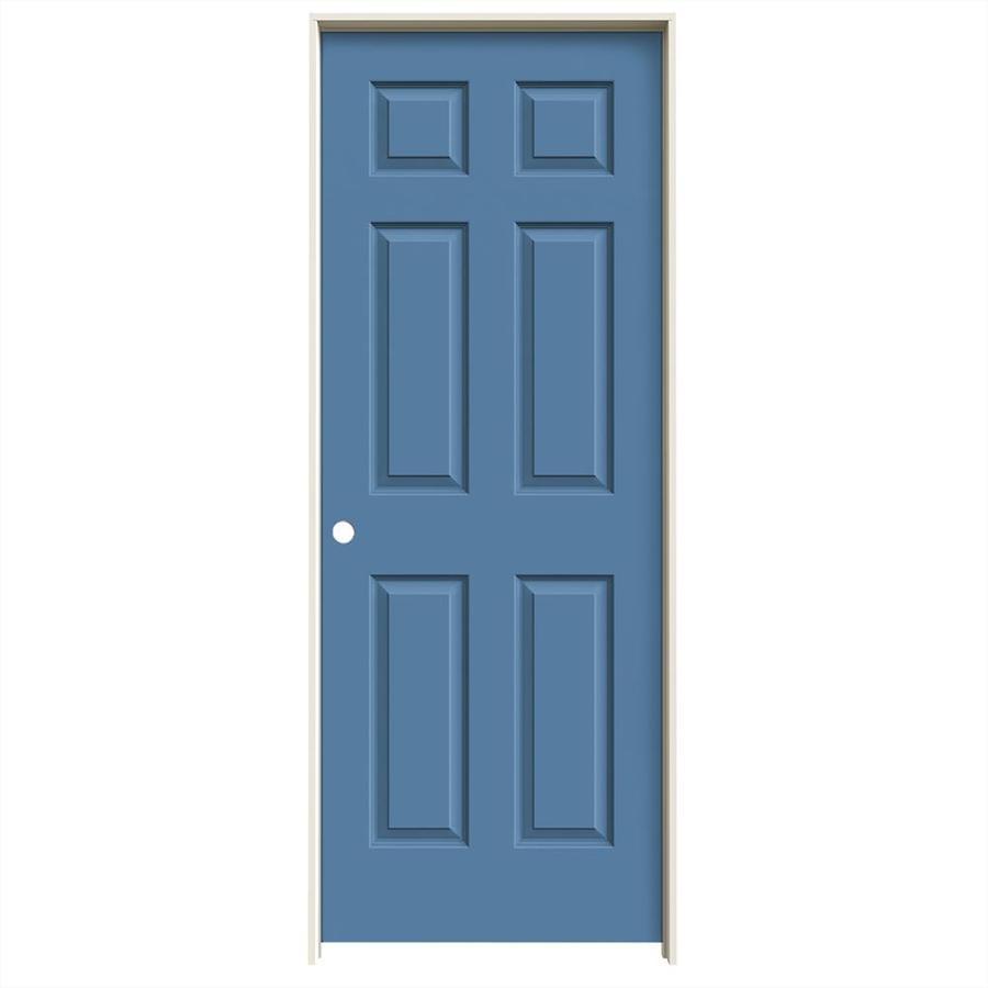 JELD-WEN Colonist Blue Heron Solid Core Molded Composite Single Prehung Interior Door (Common: 28-in x 80-in; Actual: 29.562-in x 81.688-in)