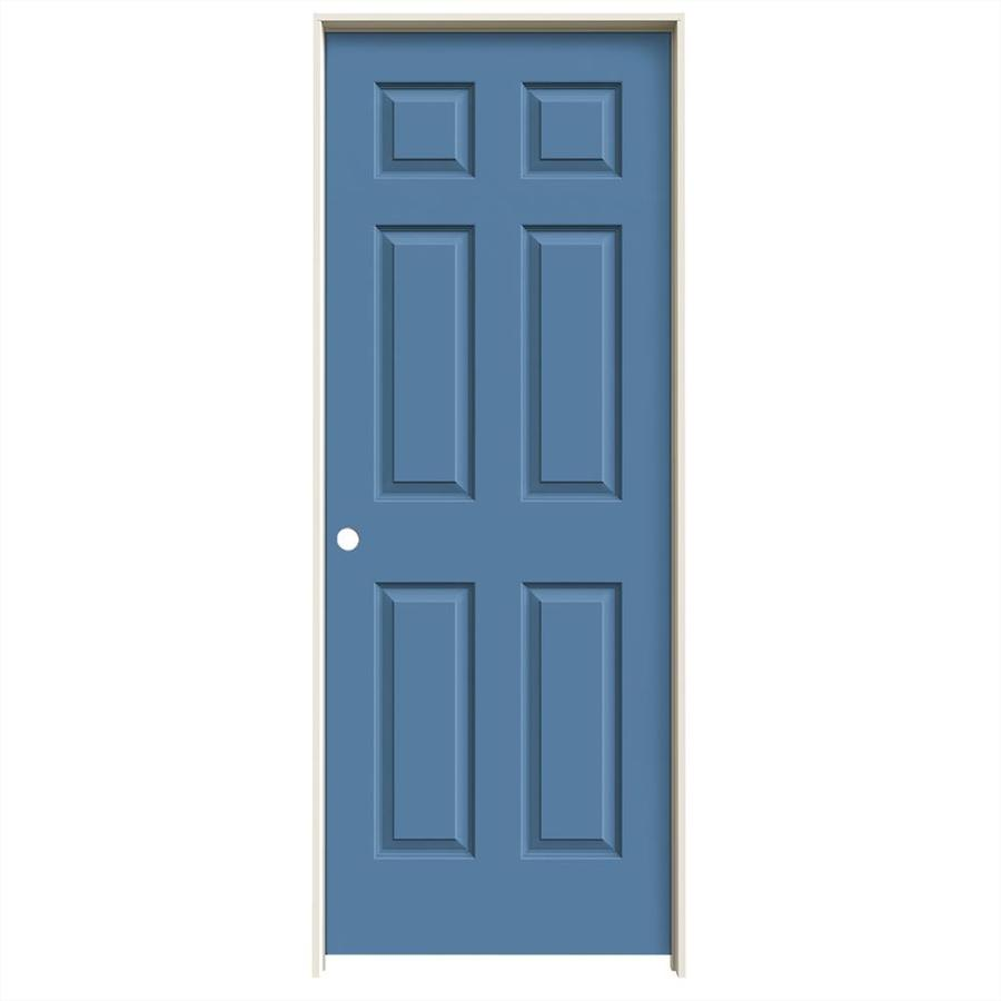Shop Jeld Wen Colonist Blue Heron Solid Core Molded Composite Single Prehung Interior Door