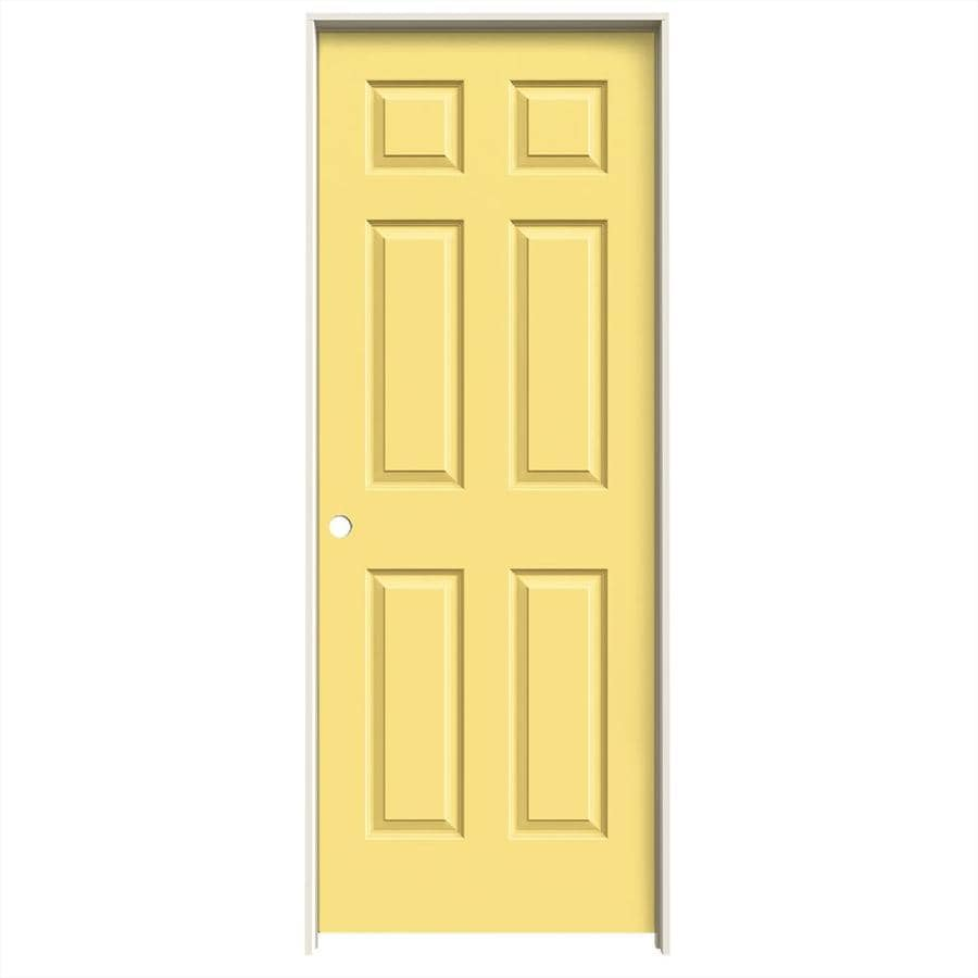 JELD-WEN Marigold Prehung Solid Core 6-Panel Interior Door (Common: 30-in x 80-in; Actual: 31.562-in x 81.688-in)