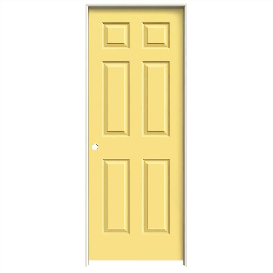 JELD-WEN Marigold Prehung Solid Core 6-Panel Interior Door (Common: 32-in x 80-in; Actual: 33.562-in x 81.688-in)