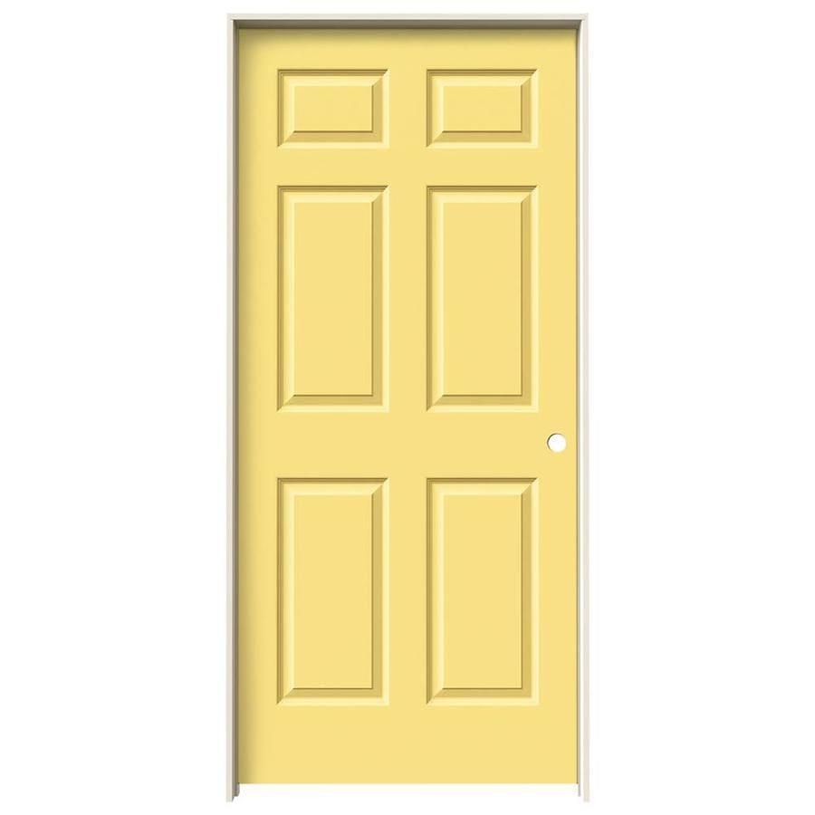 JELD-WEN Marigold Prehung Solid Core 6-Panel Interior Door (Common: 36-in x 80-in; Actual: 37.562-in x 81.688-in)